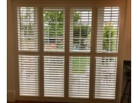 Thomas Sanderson White Wooden Patio Door Shutters - USED Very Good Condition