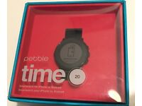 Pebble Time Round - 20mm Black/Grey - Swap for Sonos Play 1
