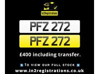 PFZ 272 - Short 3 digit NI Number Plate- Cherished Personal Private Registration plates