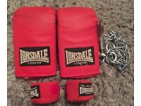 Punch Bag Bracket & Chain + Lonsdale Gloves