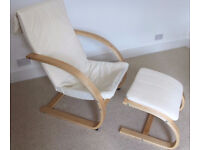 Comfy bentwood chair and footstool **NOT IKEA**