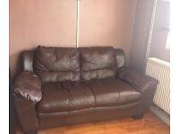 Small brown sofa