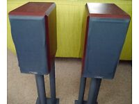 Mission 751 speakers with Gale stands