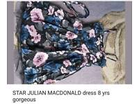 Julian MacDonald occasion dress with netted under. 8yrs
