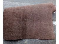 CHOCOLATE BROWN CARPET WOVEN BACKED 1.2M X 4.0M