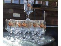 Vintage wine /sherry glasses