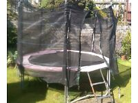 12ft Trampoline, with surround and easy removable ladders.