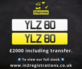 YLZ 80 - 2 digit NI Number Plate- Cherished Personal Private Registration plates
