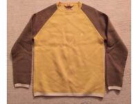 Brand new men's large Duffer of St George yellow jumper. 100% wool. No offers