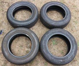 4 x 196/65/R15 Tyres - Rapid, Michelin, Goodyear. Tread 6-7mm