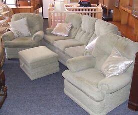 3 piece suite with pouffe