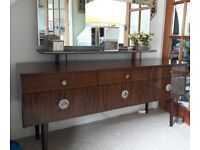 Retro Schreiber dressing table and chest of drawers