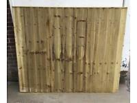 🌞 TANALISED FEATHER EDGE STRAIGHT TOP WOODEN GARDEN FENCE PANELS