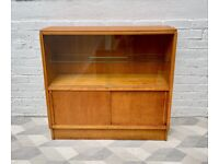 Vintage G Plan Bookcase Glass Cabinet Teak