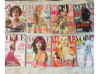 Vogue magazine. 16 issues. Various dates from 2007. Good condition