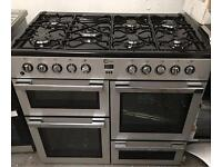 FLAVEL MLN10FRS Dual Fuel Range Cooker - Silver & Chrome. £469.99