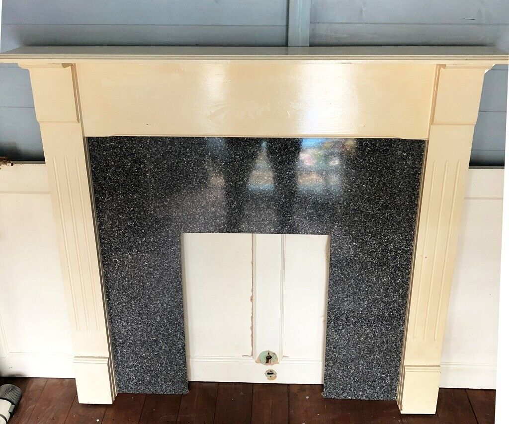 Wooden Fireplace Surround Reversible Back Panel Isleworth Tw7