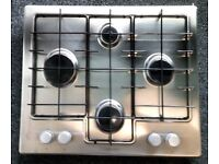 HOTPOINT USED GAS SILVER HOB + FREE 3 MONTHS GUARANTEE