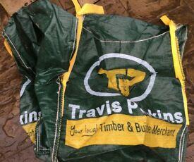 Heavy duty garden sacks or builders sacks, bulk bag.