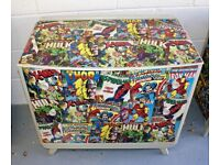Marvel Comics Chest of three Drawers.