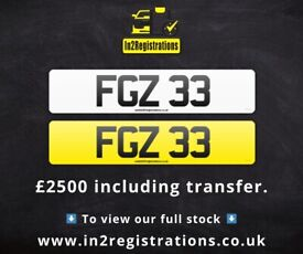 FGZ 33 - 2 digit NI Number Plate- Cherished Personal Private Registration plates