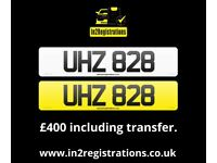 UHZ 828 - 3 digit Short NI Number Plate -Cherished Personal Private Registration plate-CAR,VAN,LORRY