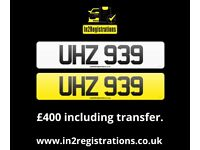 UHZ 939 - 3 digit Short NI Number Plate -Cherished Personal Private Registration plate-CAR,VAN,LORRY