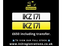 IKZ 171 - Short 3 digit NI Number Plate- Cherished Personal Private Registration plates