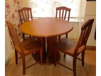 Pine Kitchen Table & 4 Chairs **QUICK SALE**