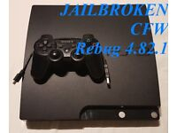 PS3 Slim 120 GB, 7 games, 1 controller, all leads