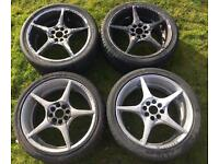 Wolfrace 17 Inch Alloy wheels