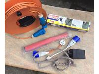Caravan Accessories. Mains hook up , nose weight scales etc