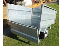 Galvanised combi box/flat bed trailer