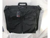 TUMI Large Black 2 Wheeled Folding Suit Carrier Suitcase Bag in VGC Ballistic Nylon Wardrobe