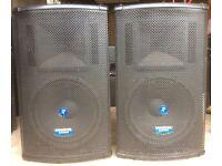 Mackie SA1521z active PA speakers (pair)