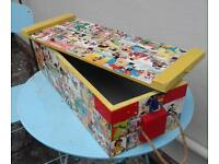 CHILDRENS TREASURES KEEPSAKES BOX made from an old AMUNITION BOX