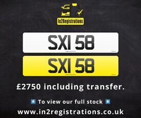 SXI 58 - 2 digit NI Number Plate- Cherished Personal Private Registration plates