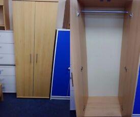 NEW 2 Door Beech Wardrobe