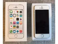 IPhone 5S 32GB Silver in Great Condition Unlocked - 5 month warranty left.