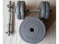 2 x dumbbell bars + weights (total 15kg)