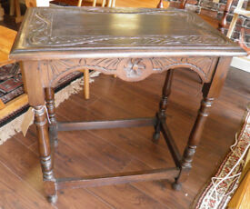 VICTORIAN CARVED & EBONISED SIDE TABLE - WE CAN DELIVER