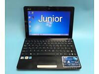 Asus Laptop/Netbook 250GB, 1GB Ram, Windows 7, Lightweight/Portable,office, Excellent Condition