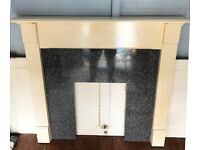 Wooden Fireplace Surround & Reversible Back Panel Isleworth TW7