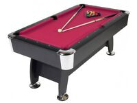 Pool table with cue and balls was £350
