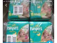 Pamper baby nappies