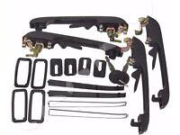 4 x Outside Door Handle Lock Black With Keys For VW Golf MK1 MK2 1981-1991
