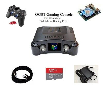 Odroid XU4 OGST Gaming Console with 400GB SD card, 2 Wireless Controllers