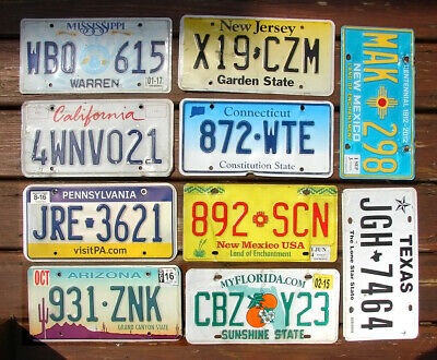 PACK OF 10 CRAFT CONDITION LICENSE PLATES FOR ART CRAFTS PROJECTS LOT (P61)