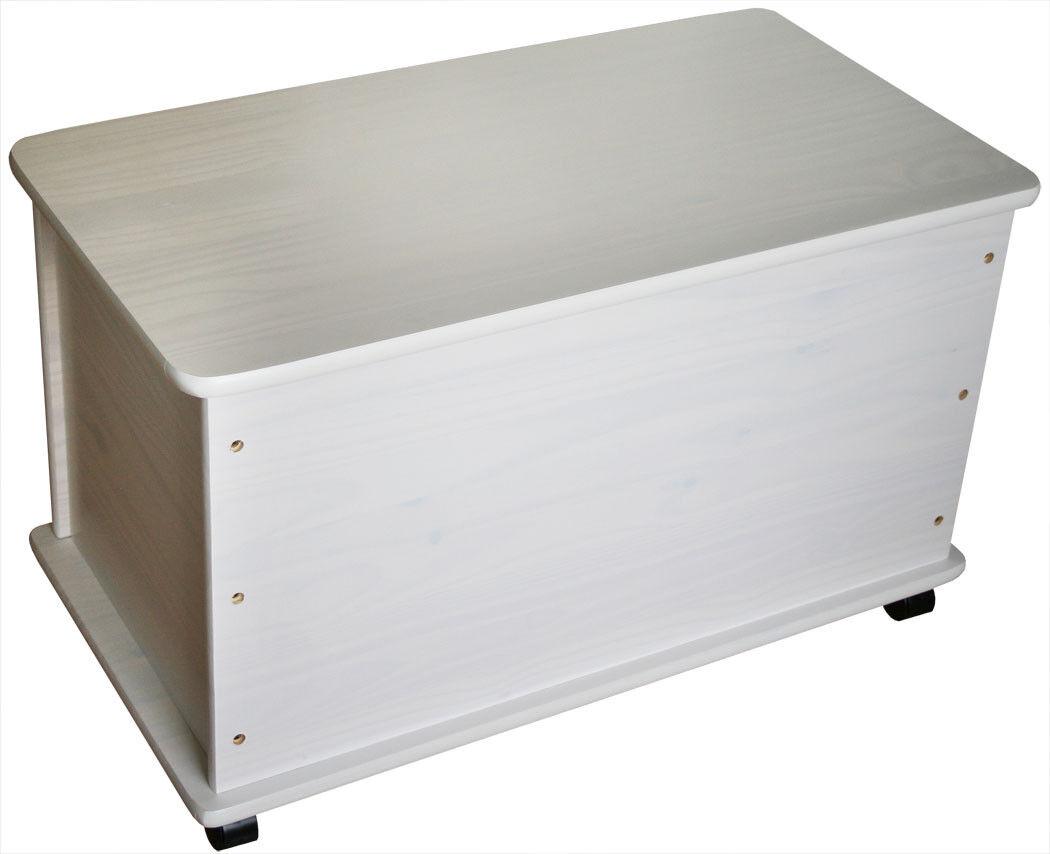 kmh spielzeugkiste spielzeugbox holzkiste wei deckel. Black Bedroom Furniture Sets. Home Design Ideas
