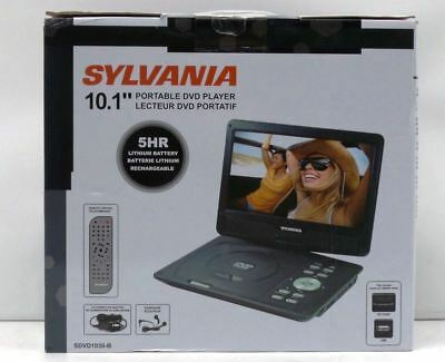 "Sylvania SDVD1030-B 10"" LCD Portable DVD Media Player 5-hr Battery USB / SD"